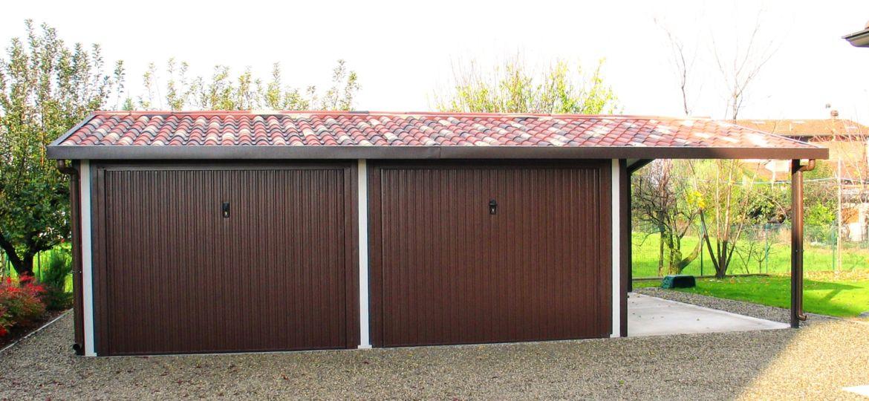 Box auto garage autorimesse verniciate colorate prezzi prezzo con tettoia
